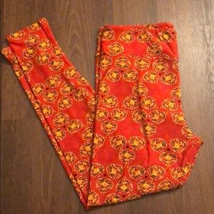 Tc lularoe fall leaf flower leggings